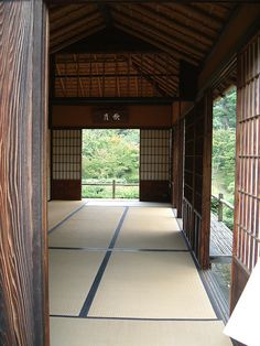 Great place to exercise, do yoga or your morning tai chi! Traditional Japanese House, Japanese Interior Design, Japanese Home Decor, Japanese Design, Japanese Style, Kyoto Japan, Japanese Architecture, Pavilion Architecture, Sustainable Architecture