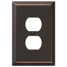 Allen Roth 1 Gang Oil Rubbed Bronze Standard Duplex