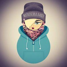 #matroschkabande #matroschka #graffiti #cool #cool😎 #hiphop #Mädchen #girl #love #hoody #hipster #instagood #illustration #graphicdesign