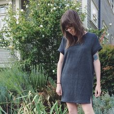 Inari Tee Dress by Named Patterns. US size 8, shortened by three inches.