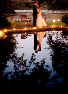 Water Reflection Wedding Photo, a must have