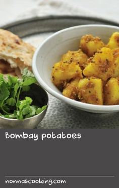 Bombay potatoes |      These simple spiced potatoes are one of the most popular Indian side dishes.   Serve as part of any Indian meal, although they are particularly good with chicken or vegetable curries.