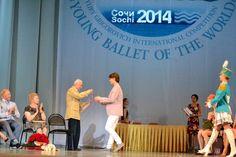 Young American at the Bolshoi: Julian MacKay wins Sochi and Istanbul medals - Yuri Grigorovich presenting Julian with his medal at Sochi