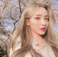 Pretty Korean Girls, Cute Korean Girl, Asian Girl, Korean Aesthetic, Aesthetic Girl, Ulzzang Makeup Tutorial, Korean Face, Ulzzang Korean Girl, Uzzlang Girl