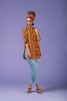 African Print Kaylee Top