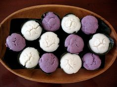 Puto Puti... I want to make these.  They are a Filipino steamed rice cake, and the boxed ones that my mother-in-law makes are so yummy!