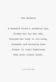 William Butler Yeats - The mermaid
