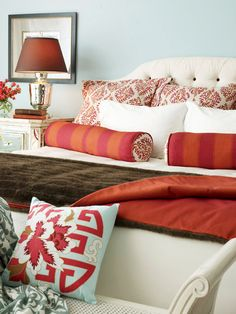 Throw pillow feature in Better Homes and Gardens. This is a big girl bedroom...so pretty
