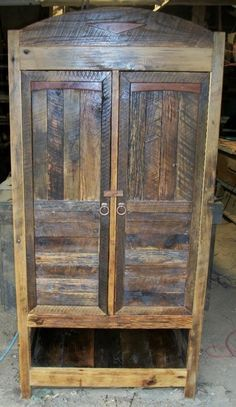 Reclaimed Wood Armoire - Would love to have this