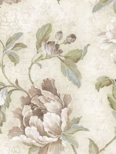 Interior Place - Off White Vintage Large Floral Wallpaper, 24.40 £ (http://www.interiorplace.com/off-white-vintage-large-floral-wallpaper/)