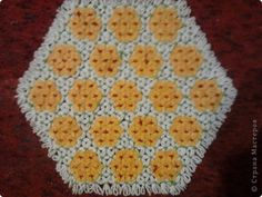 Поделка изделие Плетение Плетение салфеток на рамке Пряжа фото 2