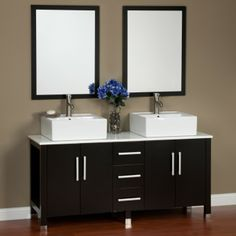 """60"""" Malin Double Vanity with Mirrors"""
