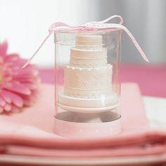 Elegant Lace Wedding Cake Candle