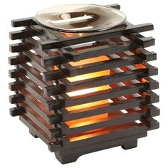 Asian-Wooden-Scented-Oil-Burner-Candle-Wax-Electric-Cord-Plugin-Warmer-Fragrance