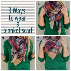 Fall/Winter Outfit. How to wear an Extra Large~Oversized~Zara~Blanket Scarf