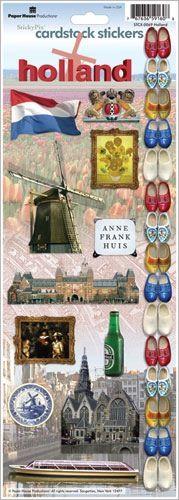 Holland - Cardstock Scrapbooking Stickers