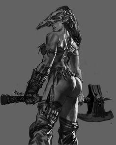 ArtStation - Ms. Orc, Bayard Wu