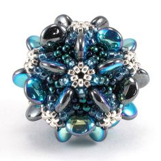 Beaded Bead blue Star design