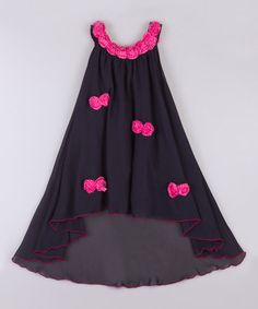 Look what I found on #zulily! Navy & Fuchsia Garden Swing Dress - Toddler & Girls by Mia Belle Baby #zulilyfinds