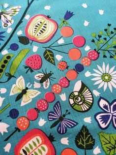 Vintage Swedish cloth. Beautiful blue background and lovely detailed composition.