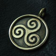Bronze Triskelion pendant from The Sunken City by DaWanda.com