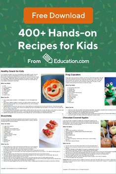 Explore the web's largest learning library of recipes, worksheets, games, and other activities for kids. Visit Education.com today! Kids Meals, Easy Meals, Good Food, Yummy Food, Wrap Recipes, Cooking With Kids, Pampered Chef, Kid Friendly Meals, Healthy Treats