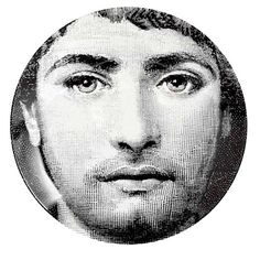 Fornasetti dish with Cavalieri likeness as a man