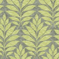 "York Wallcoverings Botanical Fantasy Textural Leaf 27' x 27"" Wallpaper Roll Color: Silver/Green/Cream"