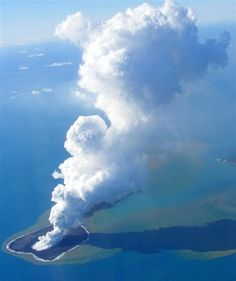 The undersea volcano on the small, uninhabited islet of Hunga Ha'apai 63 kilometres (39 miles) northwest of the Tongan capital Nuku'alofa