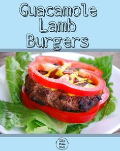 Guacamole Lamb Burgers! These are amazingly simple, but bursting with flavor!