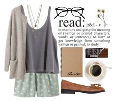 """Bookworm"" by tania-maria ❤ liked on Polyvore featuring Uniqlo, WALL, Mimi Loves Jimi and Muji"