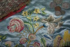 Silk on silk, embroidery