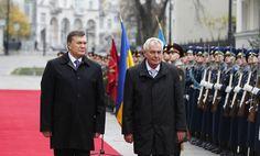 Официальная церемония встречи Президента Украины Виктора Януковича и президента Республики Чехия Милоша Земана. (Фото: Андрей Мосиенко) #vestiua #president #Ukraine #Kiev #Czech #Zeman #Yanukovych