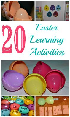 A collection of Easter themed Learning activities #easter from www.blogmemom.com