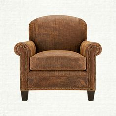 Landmark Leather Chair in Vintage Saddle