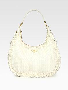 ShopStyle: Prada Madras Woven Hobo Bag