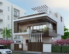 Find the best Modern & Contemporary North & South Indian (Kerala) Home Design, Home Plan, Floor Plan ideas & Interior Design inspiration to match your style. Bungalow Haus Design, Duplex House Design, House Front Design, Cool House Designs, Modern House Design, Front Elevation Designs, House Elevation, Indien Design, Home Design Living Room