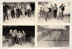 COURS LA VILLE - TOURNOI DE PETANQUE - RHONE - LOT DE 5 PHOTOS