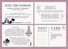 Bespoke wedding design Hannah and Aled
