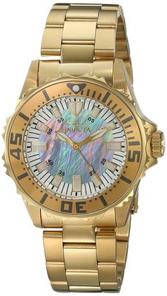 6b9996a1071 Invicta Women's 17698 Pro Diver Analog Display Swiss Quartz Gold Watch --  For… Stainless