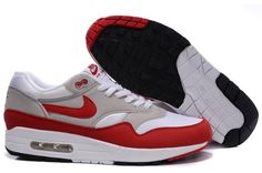 premium selection 7e134 47345 Nike Air Max 1 Herre Running Sko Og HvidRød Nike Air Max 87,
