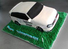3D golf car cake