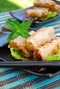 Rouleaux de printemps / nems vietnamiens au porc ou poulet