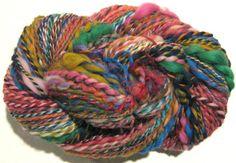 Handspun Yarn Waste Not Want Not B 2 ply by SpinningWheelStudio, $27.20
