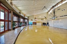 indoor gym. that opens up to the outdoors. Fantastic.