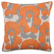"Leopard Ikat Pillow 18"" (Z Gallerie)"