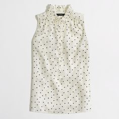 Factory printed Teagan ruffle popover : Sleeveless | J.Crew Factory