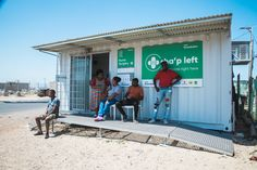 Clinic made from a discarded shipping container. Shipping container conversion by Topshell Containers, South Africa. Storage Container Homes, Container Design, Storage Containers, Shipping Container Conversions, Containers For Sale, Clinic Design, Built In Storage, South Africa, Building