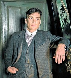 Cillian Murphy as Tommy Shelby on Peaky Blinders, I'm so excited for season 3, I could pass out.