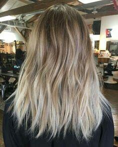 Balayage blond naturel